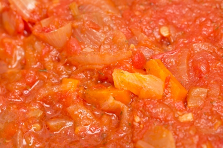 flavorful: background of tomato sauce Stock Photo