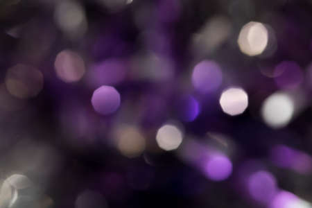 bash: Beautiful purple bokeh as background Stock Photo