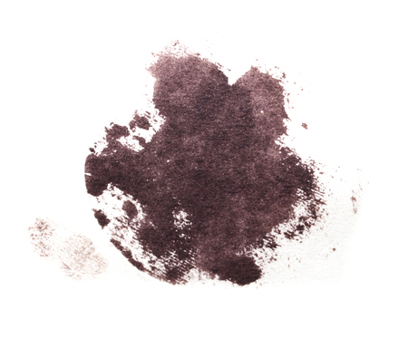 iodine: of iodine stain on a white background