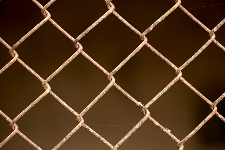 abstract rusty metal mesh photo