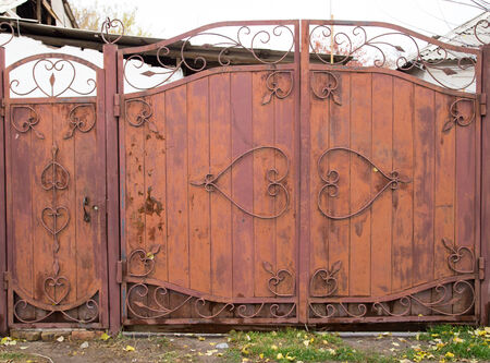 old iron gate as a backdrop photo