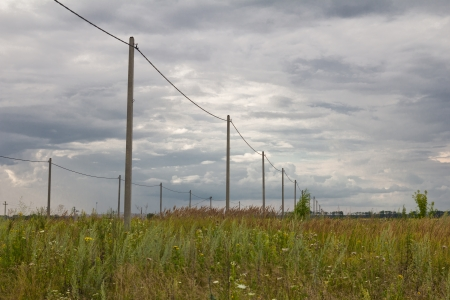 telegraphs: poles with electricity in the