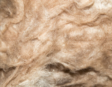 glasswool: Close up of a glass wool roll for insulation purpose, side view with details