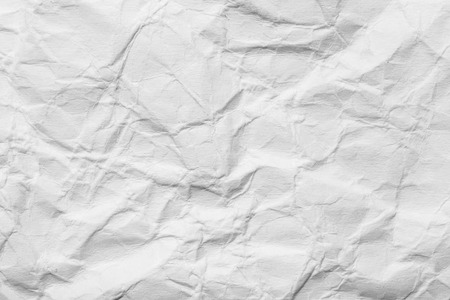 crumpled paper: background of crumpled white paper