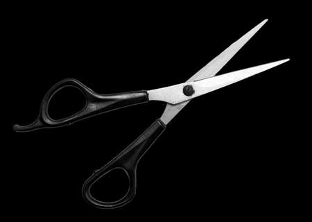 scissors on a black background Stock Photo - 24771133