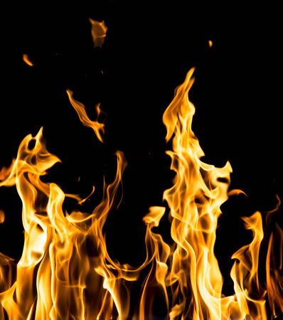 abstract background. fire flames on a black background Stock Photo - 24771146