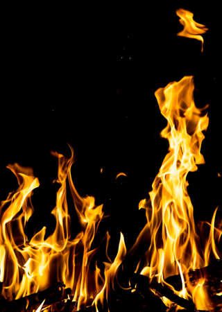 abstract background. fire flames on a black background Stock Photo - 24771148
