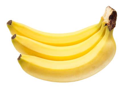 bananas on white background photo