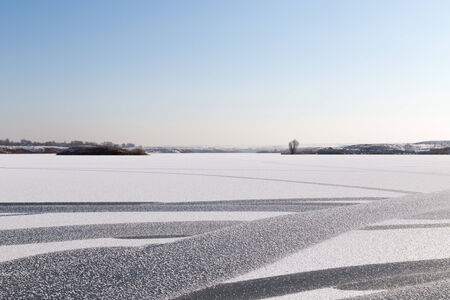 frozen lake: frozen lake in nature