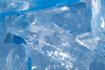 thickness: background of cold ice. macro