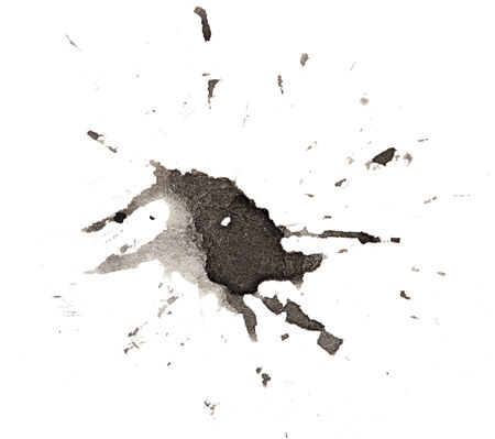 prejudiced: black blot on a white background