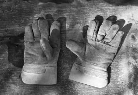 old construction gloves photo