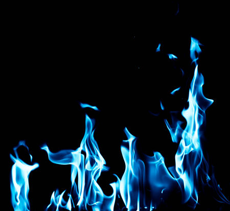 blue flames: blue flame fire on black background