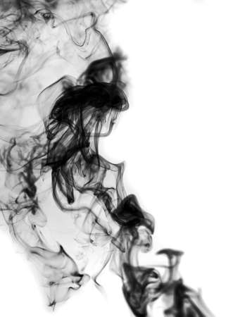 smoke on white background photo