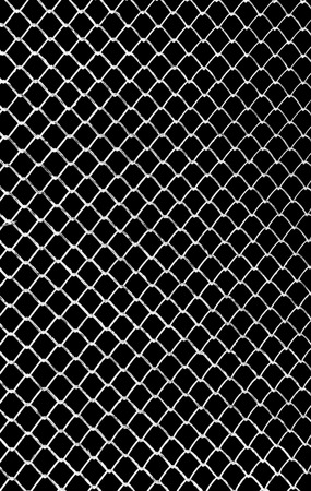 white grid on a black background