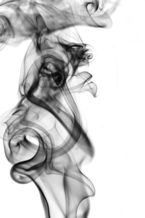Abstract smoke on white background photo