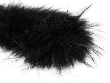 peltry: black fur on white background