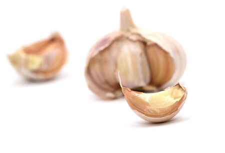 flavoring: garlic on a white background