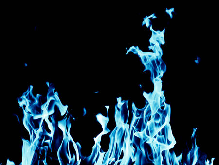 butane: abstract background of blue flame fire on black background