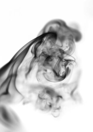 black smoke on white background photo