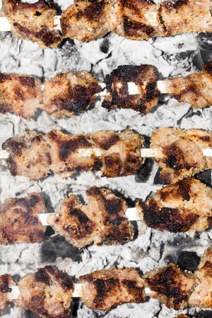 shish kebab: shish kebab on a stick Stock Photo