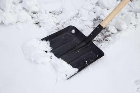 shovel to clean snow photo