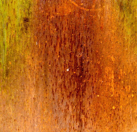 flaked: abstract background of rusty metal