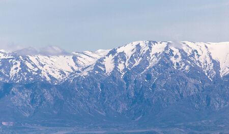 kirgizia: snowy peaks of the Tien Shan