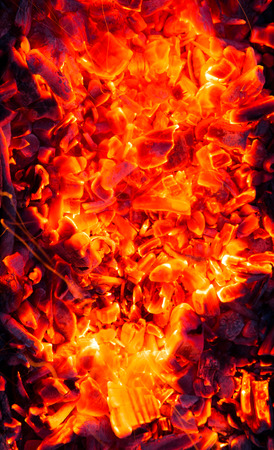 background from the burning charcoal photo