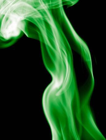 noxious: green smoke on black background
