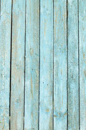 houten achtergrond met oude blauwe verf Stockfoto