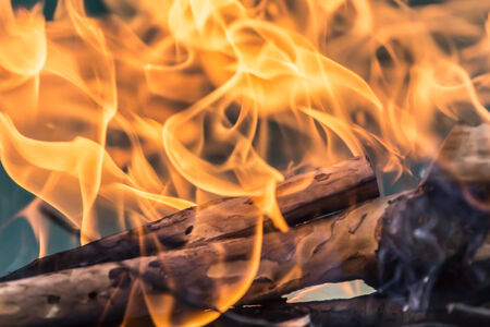 glut: fire wood Stock Photo