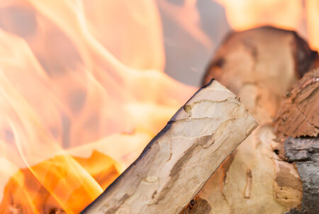 glut: fire wood Stock Photo