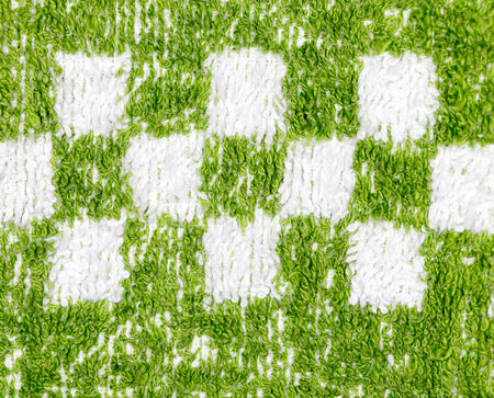 background of green towel. close-up photo