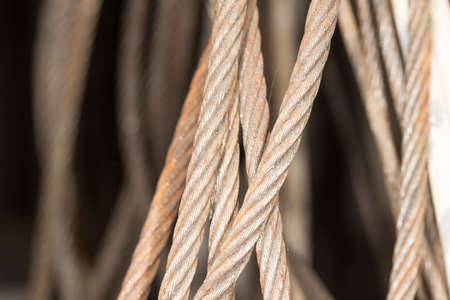 rusty metal cable photo