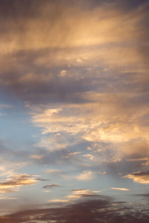 crepuscle: beautiful clouds at sunset