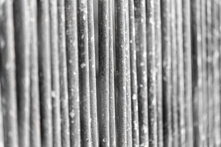 penal: metal fence as background Stock Photo