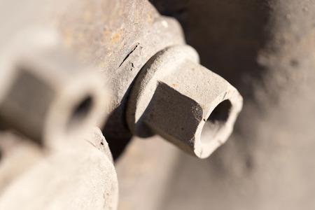 castings: bolt on wheel cars Stock Photo