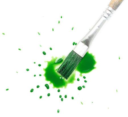 blotch: green spot blotch on white background