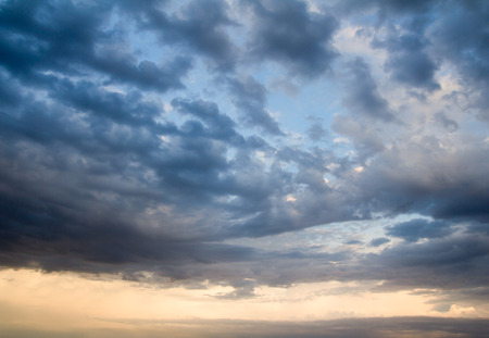 background of the sky with clouds at sunset Stock Photo