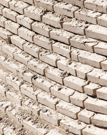 vignetted: background of an old brick wall Stock Photo