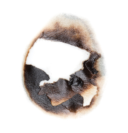 burnt: burnt hole in a paper