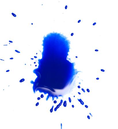 blotch: blue spot blotch on white background Stock Photo
