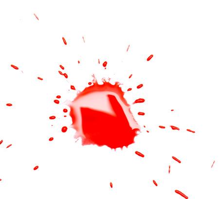 blotch: red spot blotch on white background