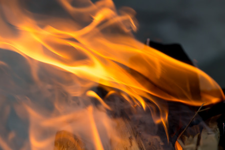 billet: flames of fire from wood Stock Photo