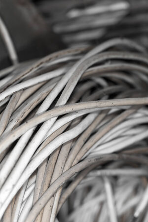 Rusty Wire. Texture Of Old Metal Coil. Iron Bars Stock Photo ...