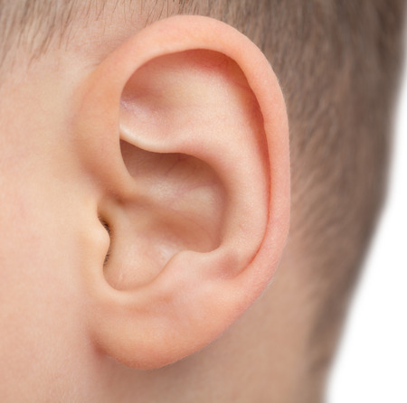 close up of male ear Stock Photo