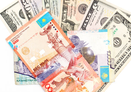 kazakhstan: American dollars and Kazakhstan tenge