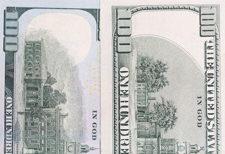 hundred dollars. close-up