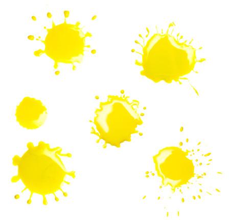 blotch: yellow spot blotch on white background Stock Photo